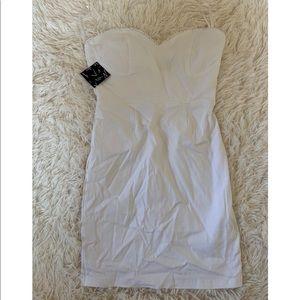 Strapless mini dress